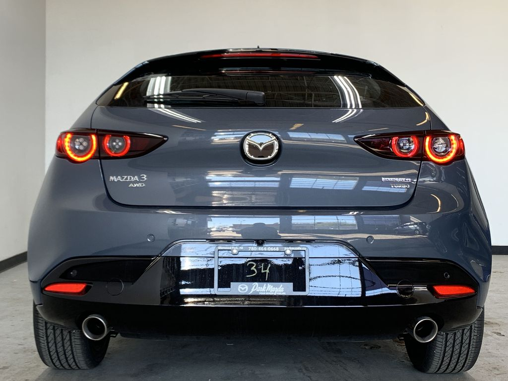 POLYMETAL GREY METALLIC(47C) 2021 Mazda Mazda3 Sport GT Turbo Premium AWD Rear of Vehicle Photo in Edmonton AB