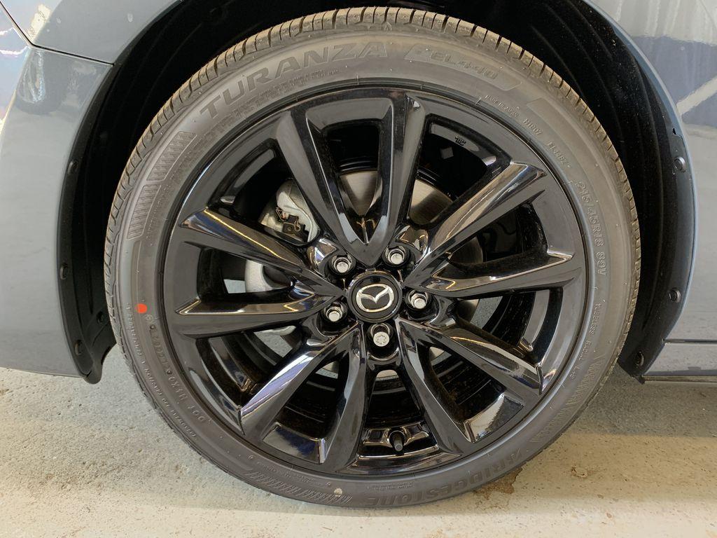 POLYMETAL GREY METALLIC(47C) 2021 Mazda Mazda3 Sport GT Turbo Premium AWD Left Front Rim and Tire Photo in Edmonton AB