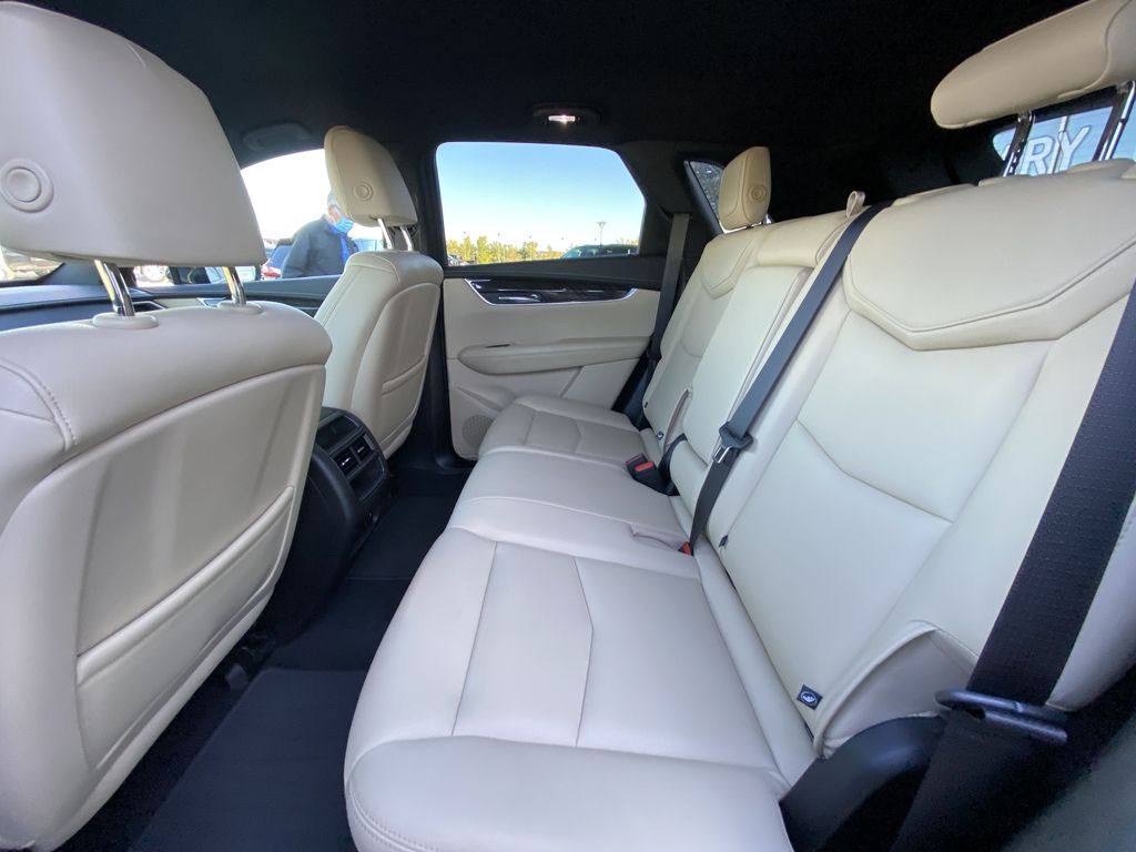 Black[Manhattan Noir Metallic] 2019 Cadillac XT5 Left Side Rear Seat  Photo in Calgary AB
