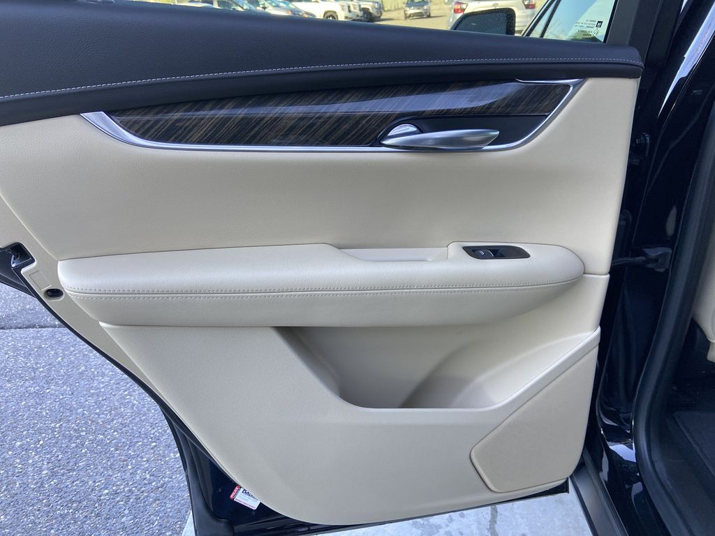 Black[Manhattan Noir Metallic] 2019 Cadillac XT5 Left Rear Interior Door Panel Photo in Calgary AB