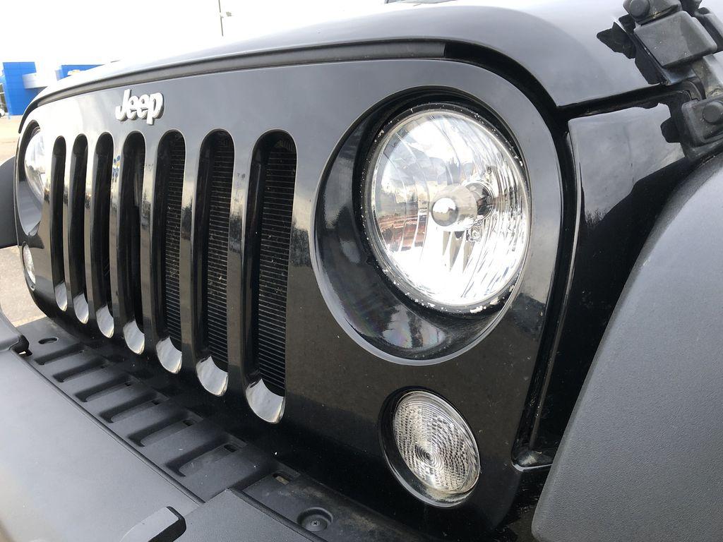 Black[Black] 2018 Jeep Wrangler JK Left Front Head Light / Bumper and Grill in Edmonton AB