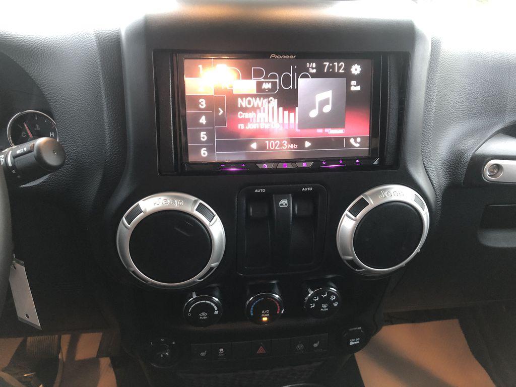 Black[Black] 2018 Jeep Wrangler JK Central Dash Options Photo in Edmonton AB