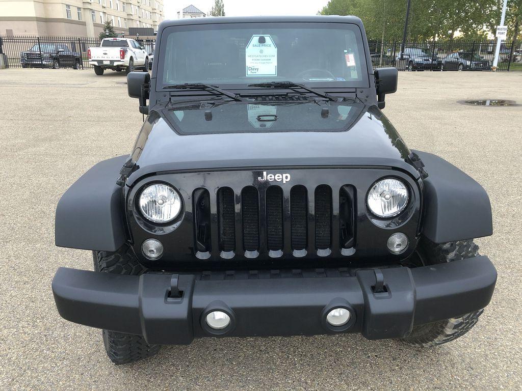 Black[Black] 2018 Jeep Wrangler JK Front Vehicle Photo in Edmonton AB