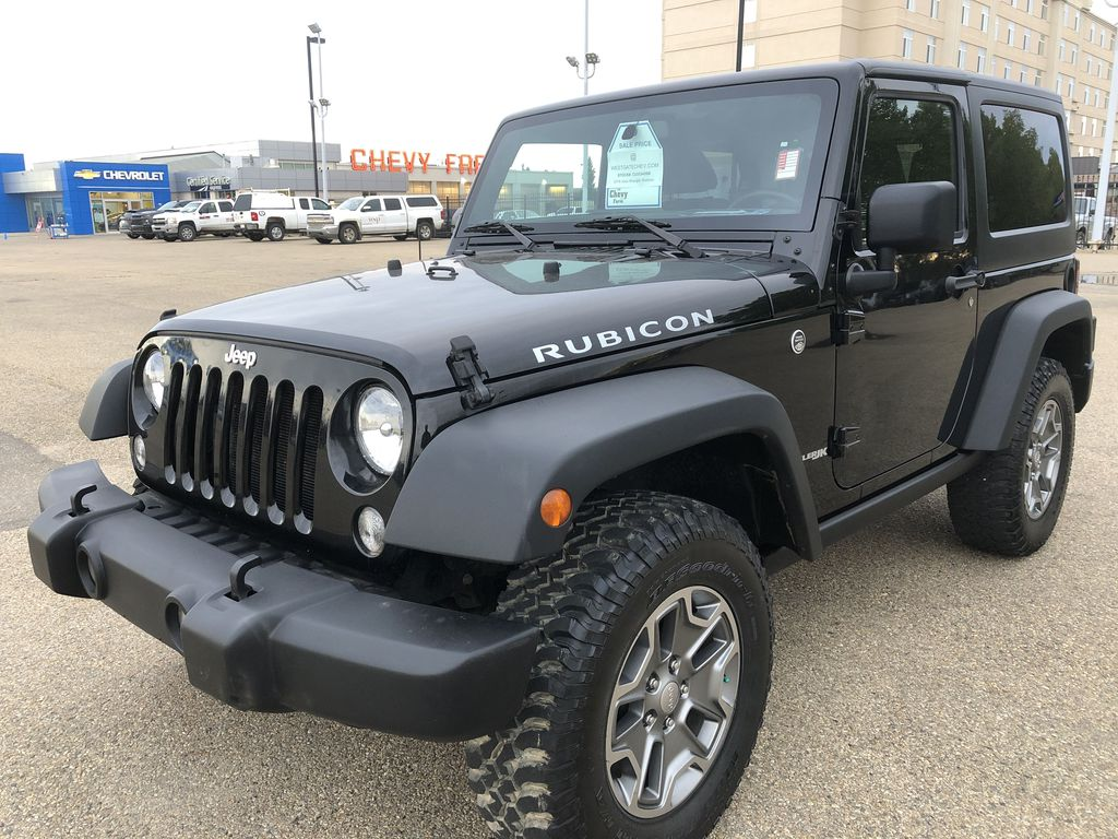 Black[Black] 2018 Jeep Wrangler JK Left Front Corner Photo in Edmonton AB