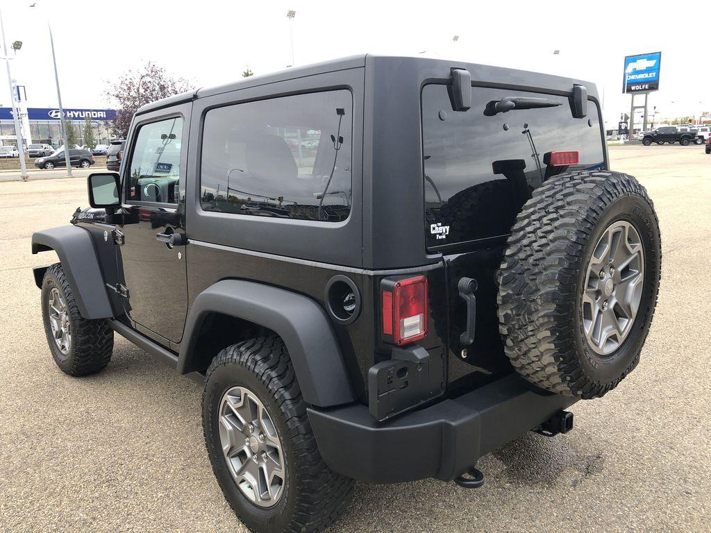 Black[Black] 2018 Jeep Wrangler JK Left Rear Corner Photo in Edmonton AB