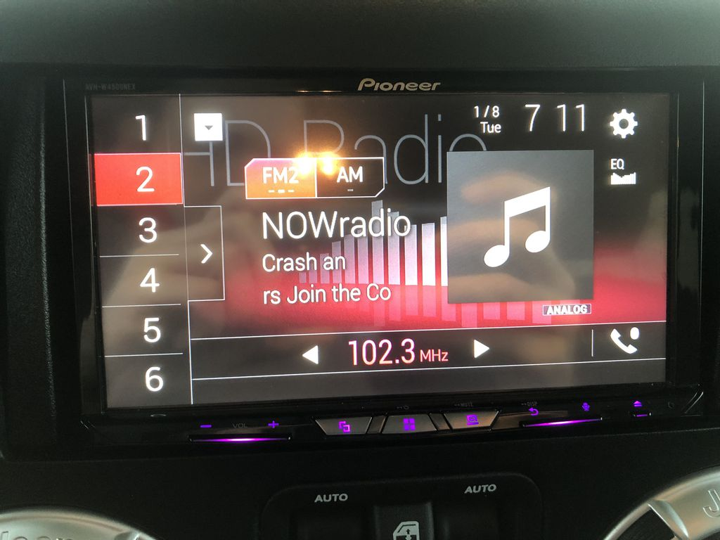 Black[Black] 2018 Jeep Wrangler JK Radio Controls Closeup Photo in Edmonton AB