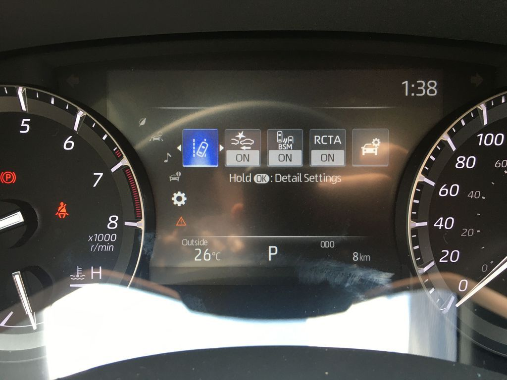 Gray[Magnetic Grey Metallic] 2021 Toyota Highlander AWD XLE Package GZRBHT AM Backup Camera Closeup Photo in Brampton ON