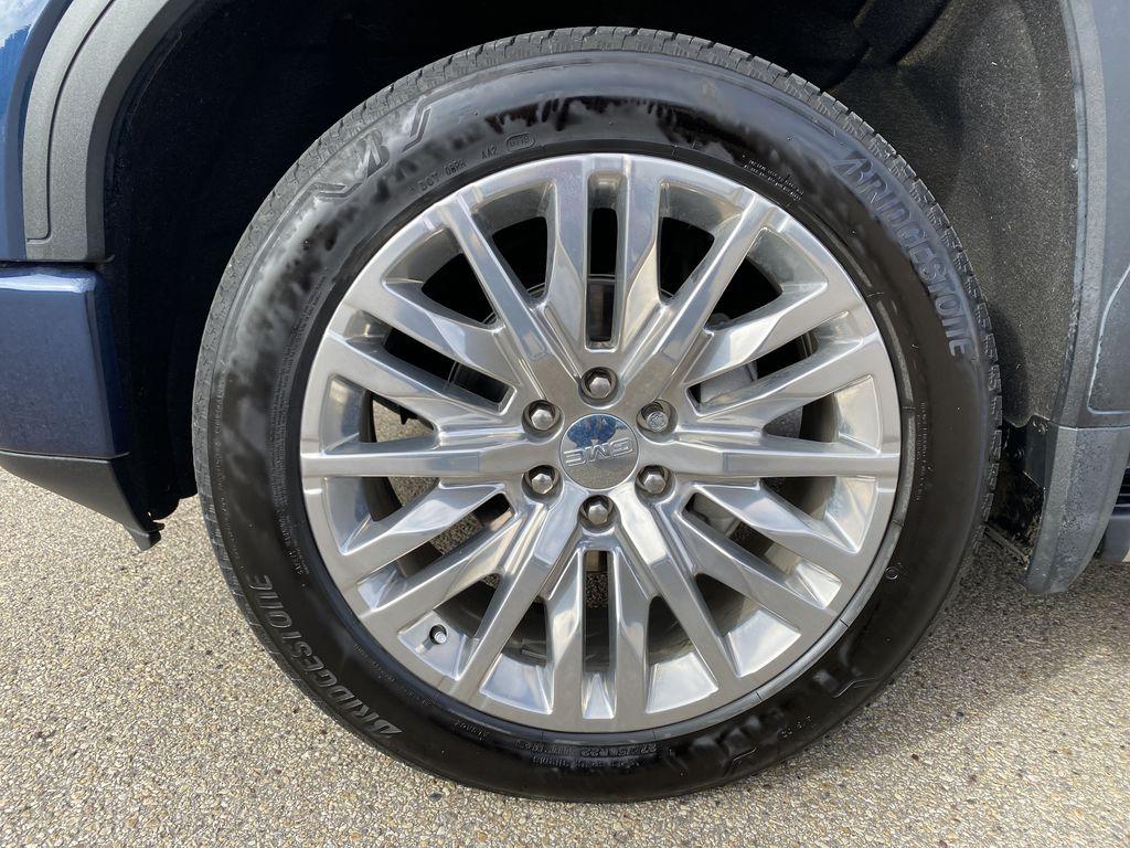 Blue[Pacific Blue Metallic] 2019 GMC Sierra 1500 Left Front Rim and Tire Photo in Edmonton AB