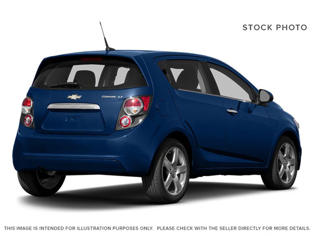 Blue[Blue Topaz Metallic] 2014 Chevrolet Sonic Right Rear Corner Photo in Edmonton AB