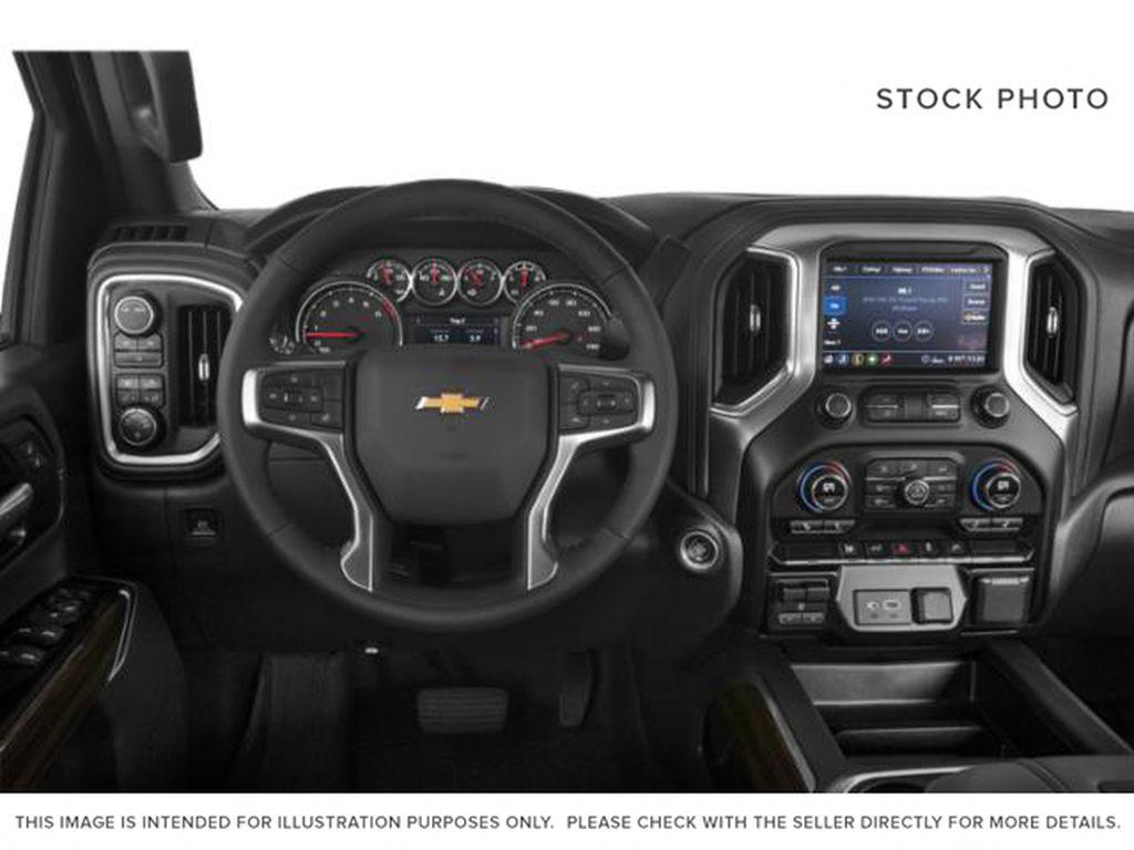 Black[Black] 2021 Chevrolet Silverado 2500HD Steering Wheel and Dash Photo in Fort Macleod AB