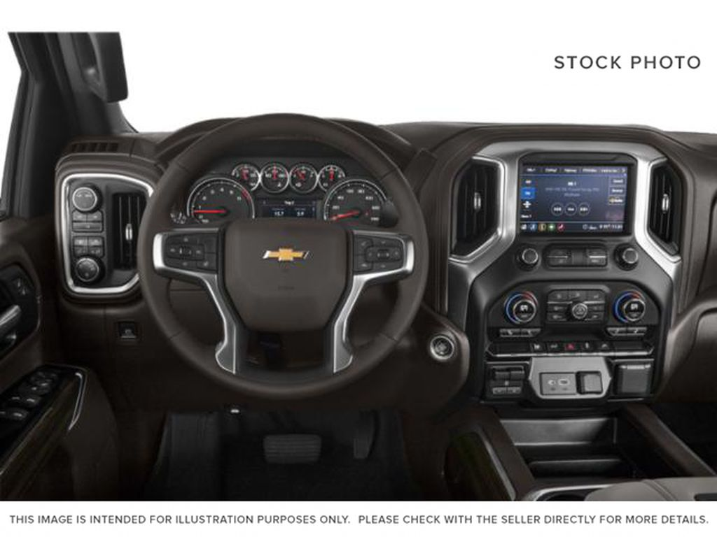Silver[Silver Ice Metallic] 2020 Chevrolet Silverado 2500HD Steering Wheel and Dash Photo in Fort Macleod AB