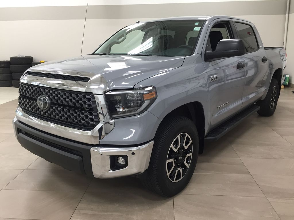 Gray[Cement Gray] 2019 Toyota Tundra 4WD TRD OFF-ROAD / CEMENT GREY RARE COLOR Left Front Corner Photo in Sherwood Park AB