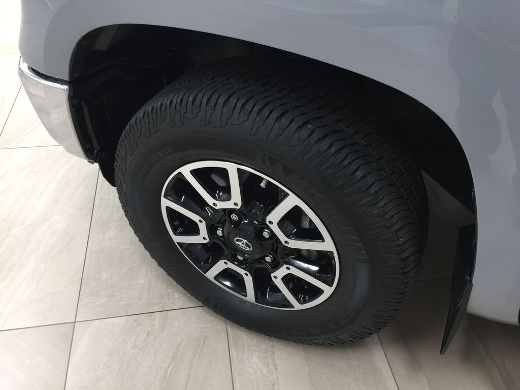 Gray[Cement Gray] 2019 Toyota Tundra 4WD TRD OFF-ROAD / CEMENT GREY RARE COLOR Left Front Rim and Tire Photo in Sherwood Park AB
