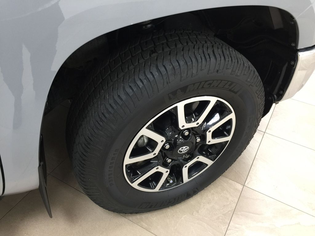 Gray[Cement Gray] 2019 Toyota Tundra 4WD TRD OFF-ROAD / CEMENT GREY RARE COLOR Right Front Rim and Tire Photo in Sherwood Park AB