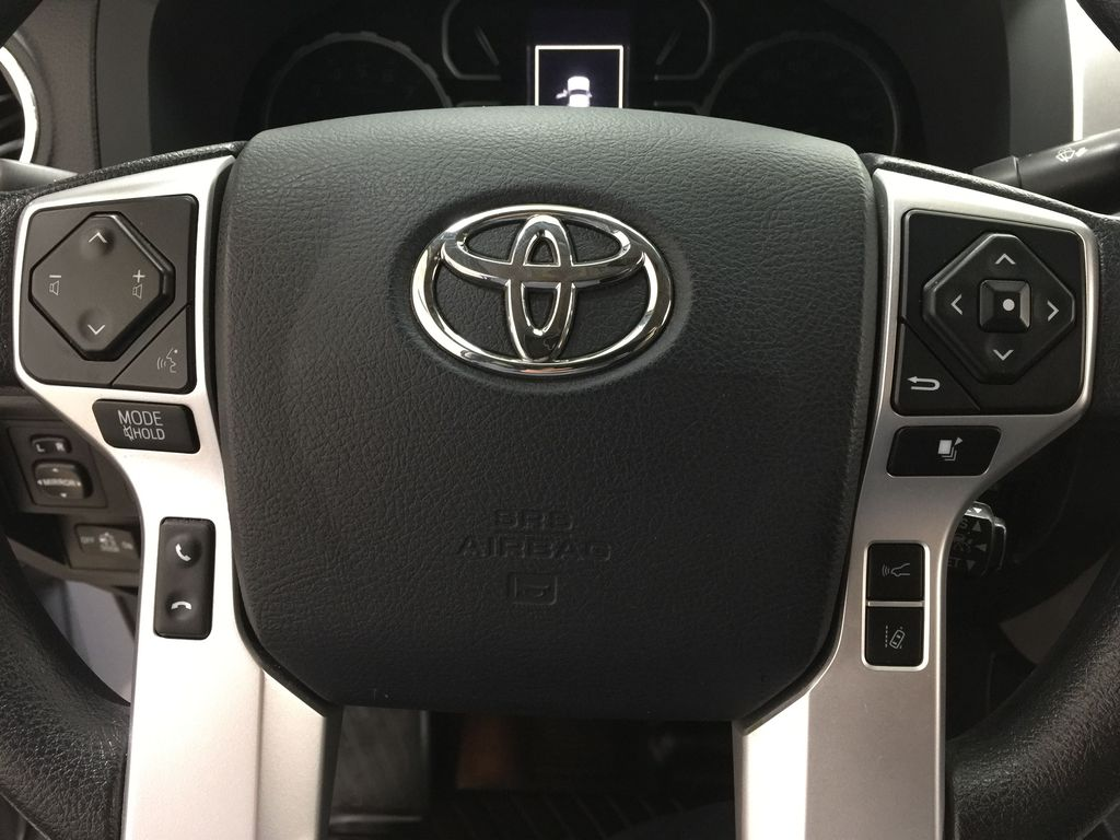 Gray[Cement Gray] 2019 Toyota Tundra 4WD TRD OFF-ROAD / CEMENT GREY RARE COLOR Steering Wheel and Dash Photo in Sherwood Park AB
