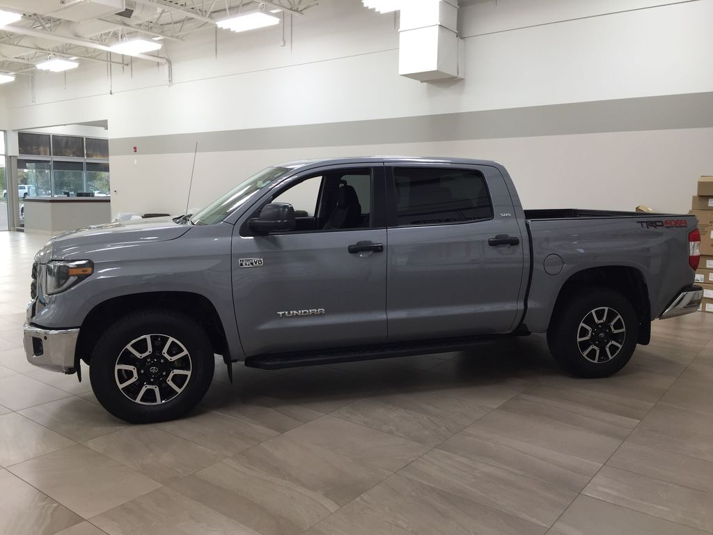 Gray[Cement Gray] 2019 Toyota Tundra 4WD TRD OFF-ROAD / CEMENT GREY RARE COLOR Left Side Photo in Sherwood Park AB