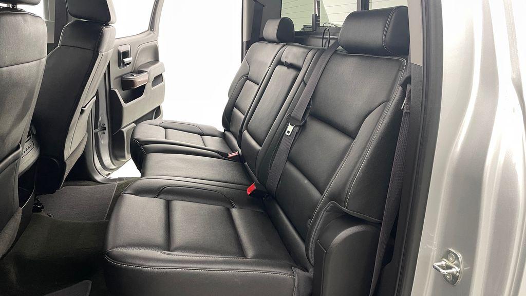 Silver[Quicksilver Metallic] 2017 GMC Sierra 1500 SLT Z71 4WD - Crew Cab, 5.3L, LOW KMs Left Side Rear Seat  Photo in Winnipeg MB