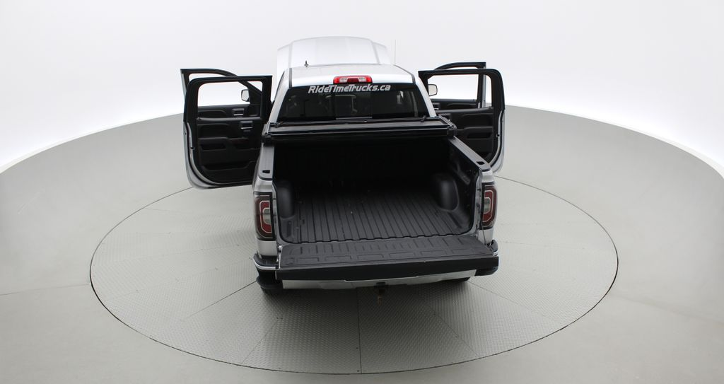Silver[Quicksilver Metallic] 2017 GMC Sierra 1500 SLT Z71 4WD - Crew Cab, 5.3L, LOW KMs Rear of Vehicle Photo in Winnipeg MB