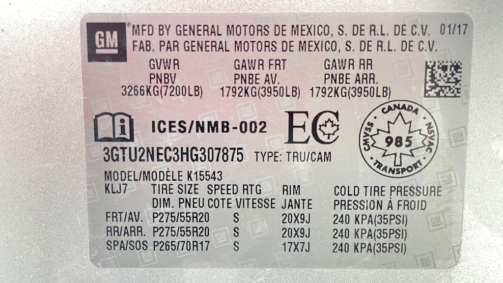 Silver[Quicksilver Metallic] 2017 GMC Sierra 1500 SLT Z71 4WD - Crew Cab, 5.3L, LOW KMs DOT Label Photo in Winnipeg MB