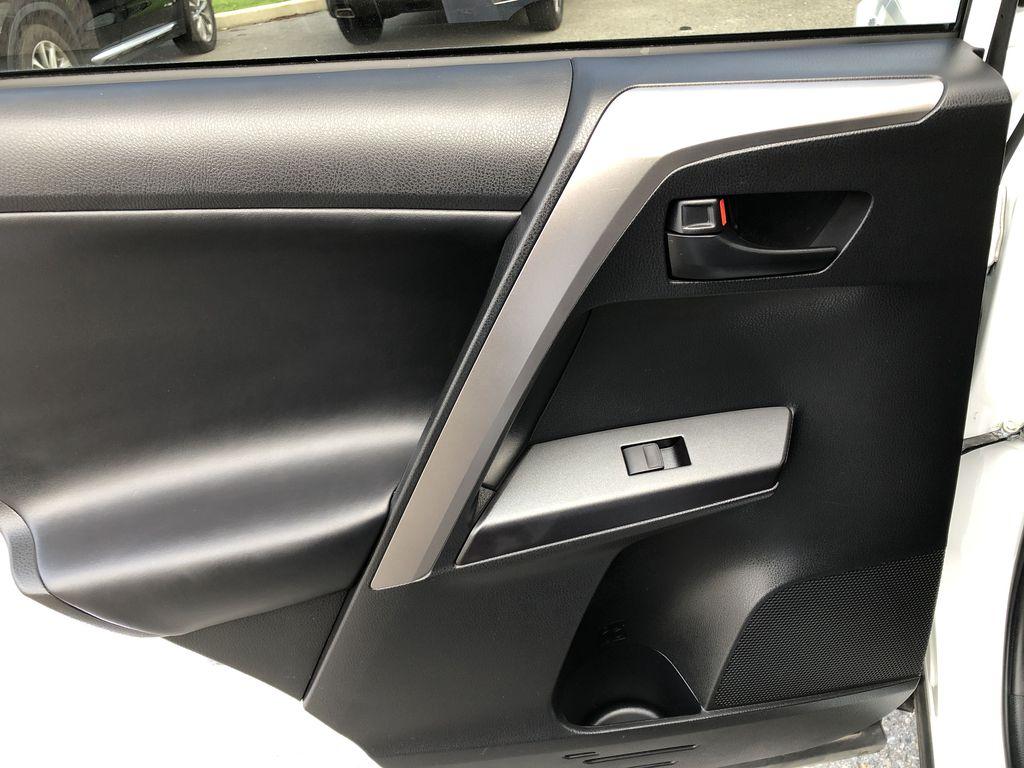 White[Alpine White] 2017 Toyota RAV4 Hybrid Left Rear Interior Door Panel Photo in Kelowna BC