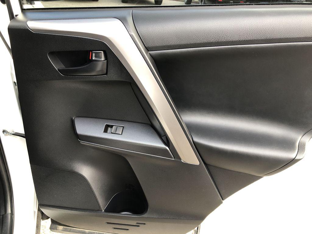 White[Alpine White] 2017 Toyota RAV4 Hybrid Right Rear Interior Door Panel Photo in Kelowna BC