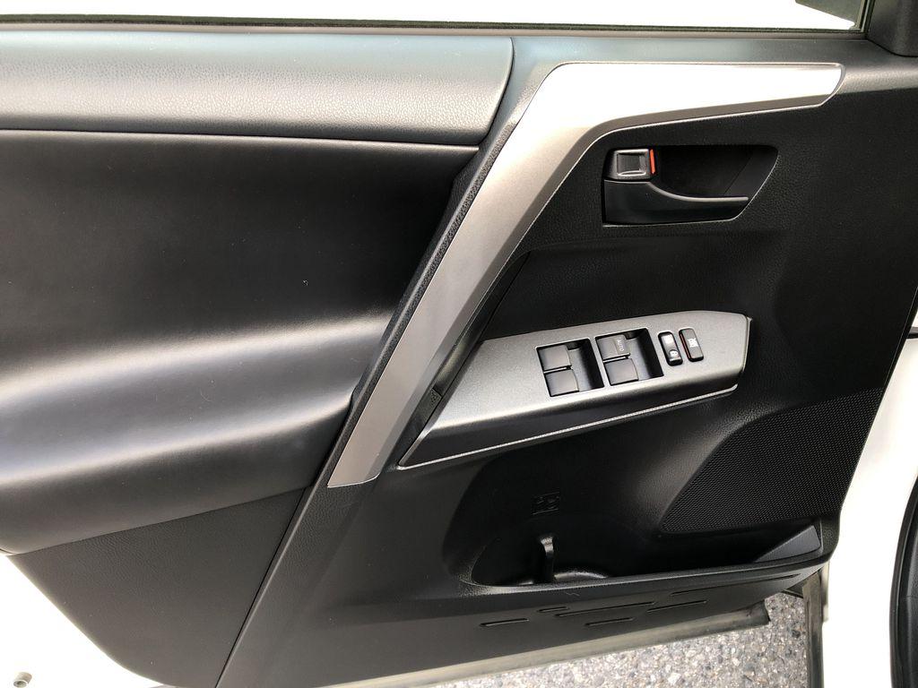 White[Alpine White] 2017 Toyota RAV4 Hybrid Left Front Interior Door Panel Photo in Kelowna BC