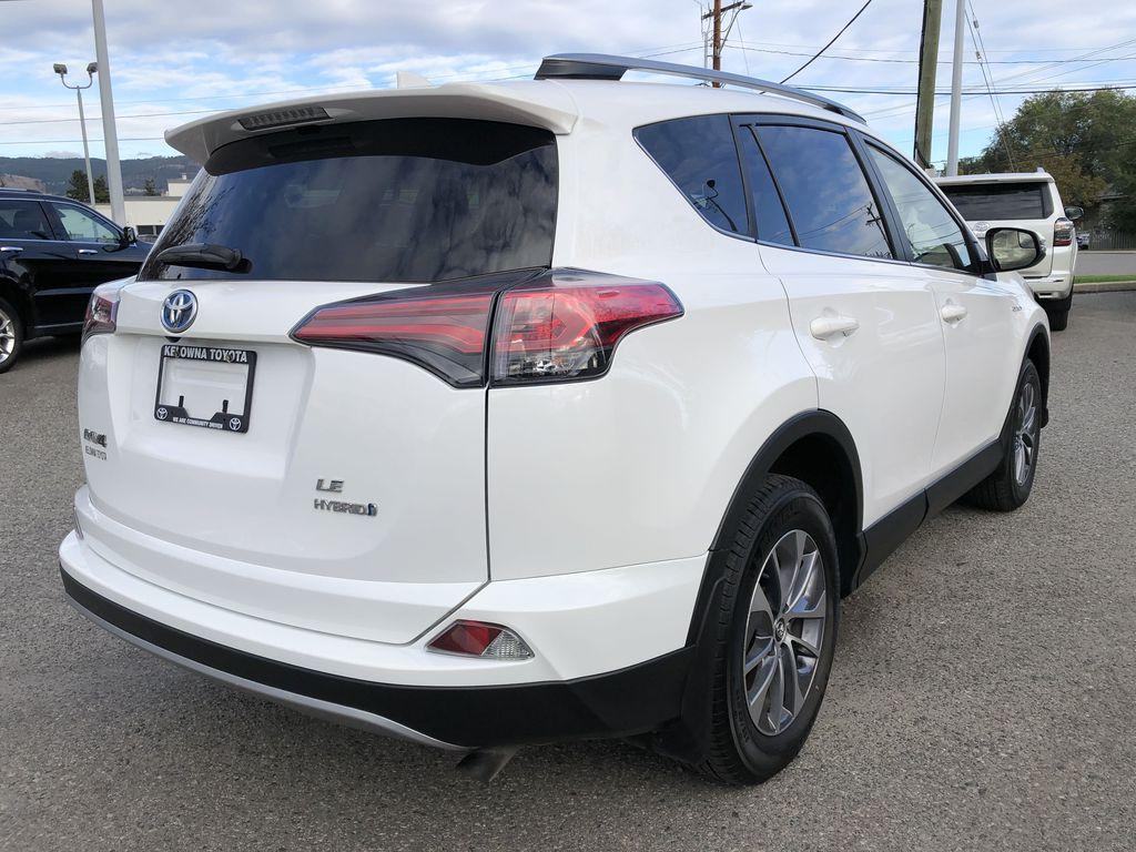 White[Alpine White] 2017 Toyota RAV4 Hybrid Right Rear Corner Photo in Kelowna BC