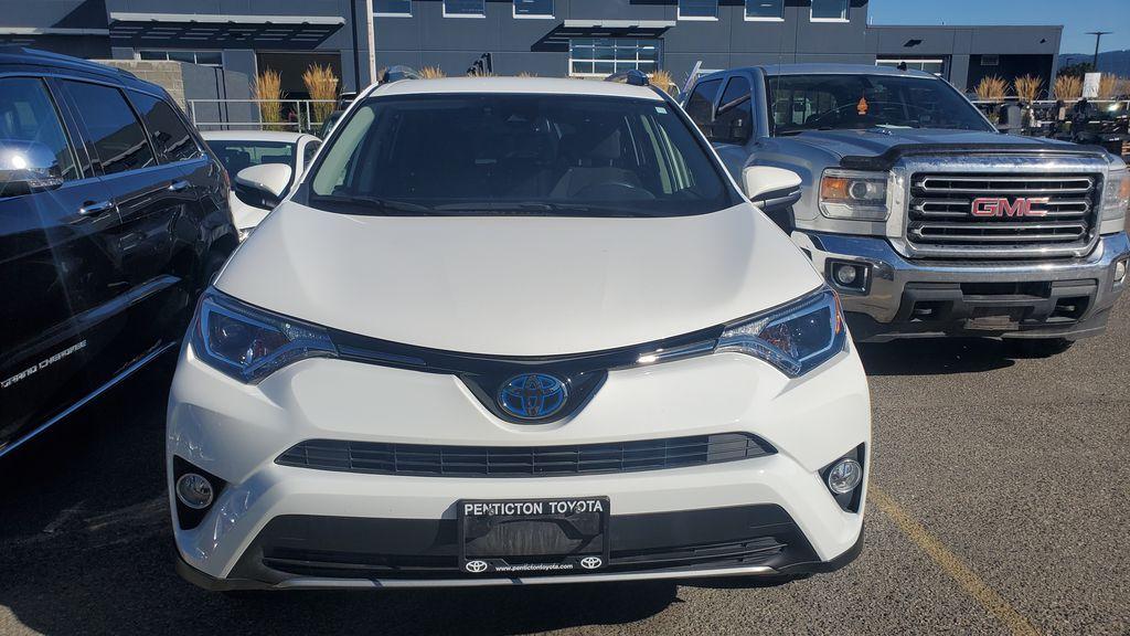 White[Alpine White] 2017 Toyota RAV4 Hybrid Front Vehicle Photo in Kelowna BC