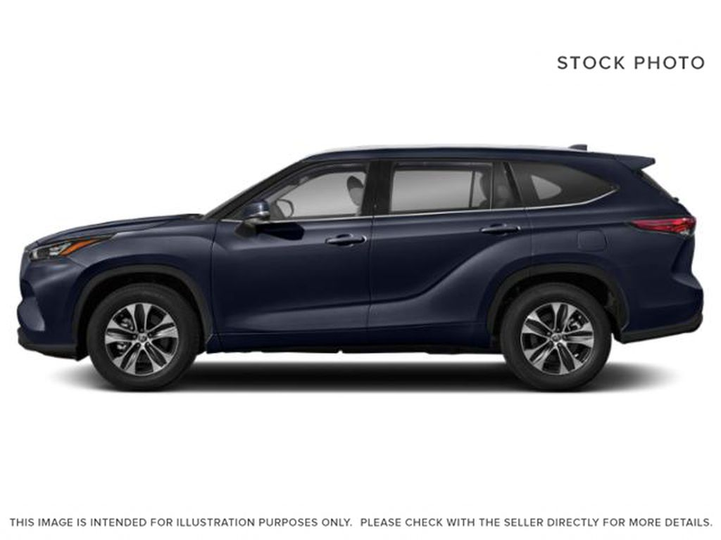 Blue[Blueprint] 2021 Toyota Highlander Left Side Photo in Kelowna BC