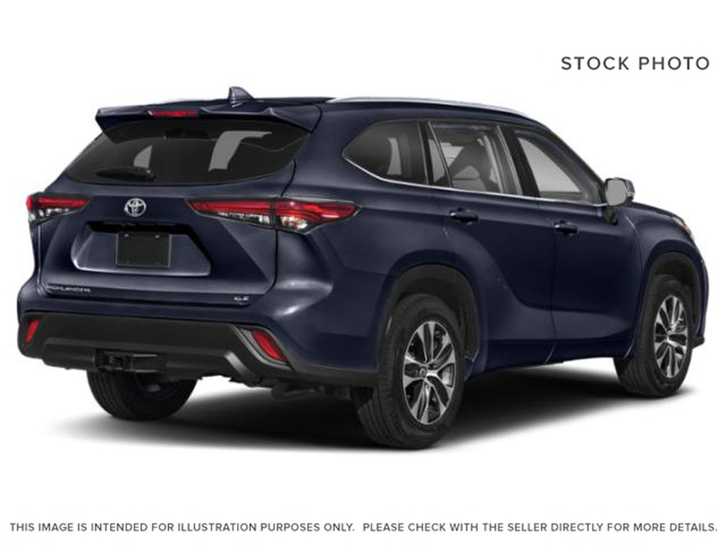 Blue[Blueprint] 2021 Toyota Highlander Right Rear Corner Photo in Kelowna BC