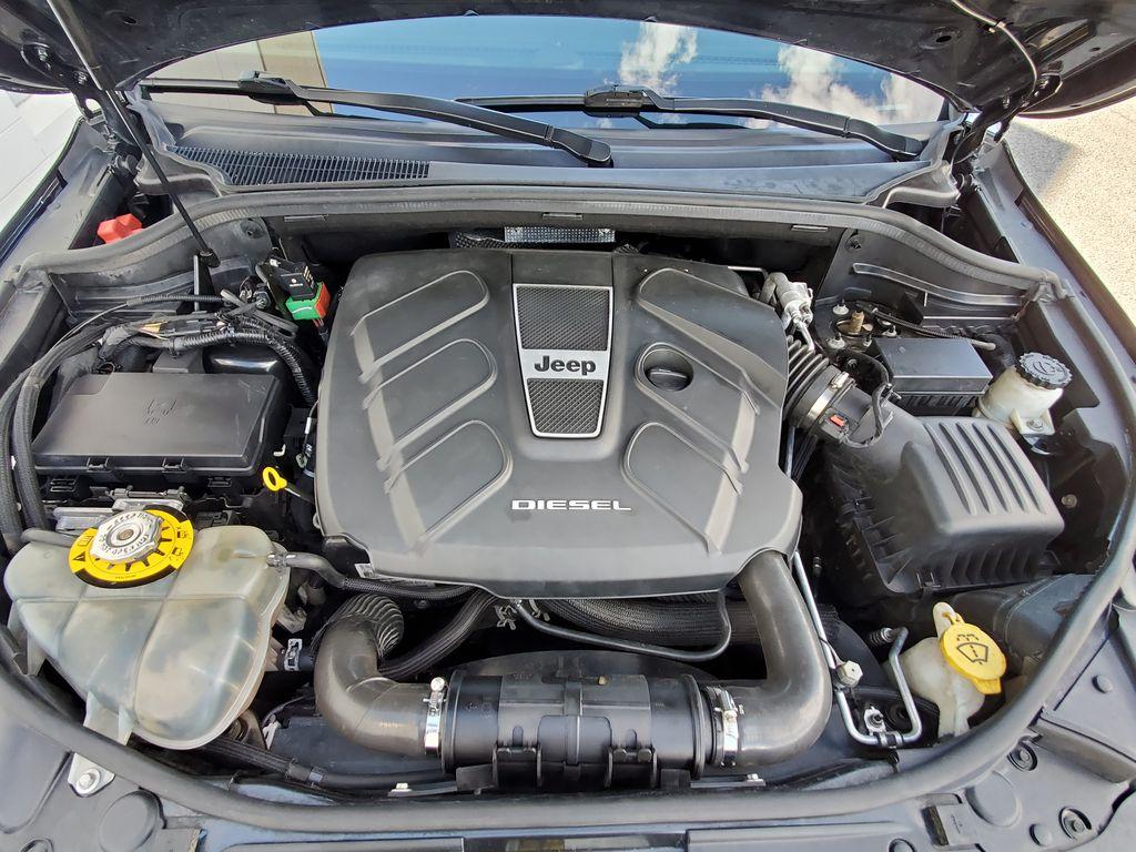 Black[Brilliant Black Crystal Pearl] 2015 Jeep Grand Cherokee Summit Diesel Engine Compartment Photo in Kelowna BC