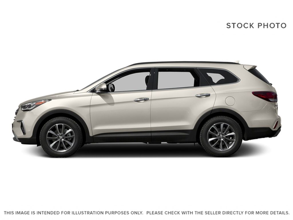 White[Monaco White] 2017 Hyundai Santa Fe XL Left Side Photo in Kelowna BC