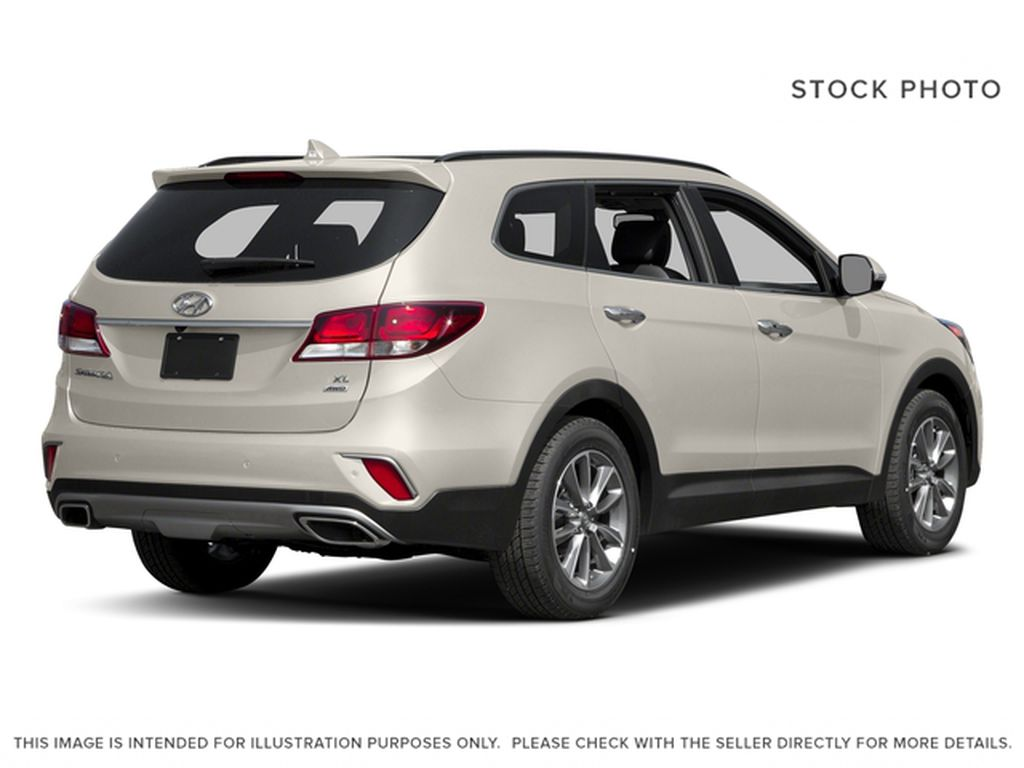 White[Monaco White] 2017 Hyundai Santa Fe XL Right Rear Corner Photo in Kelowna BC