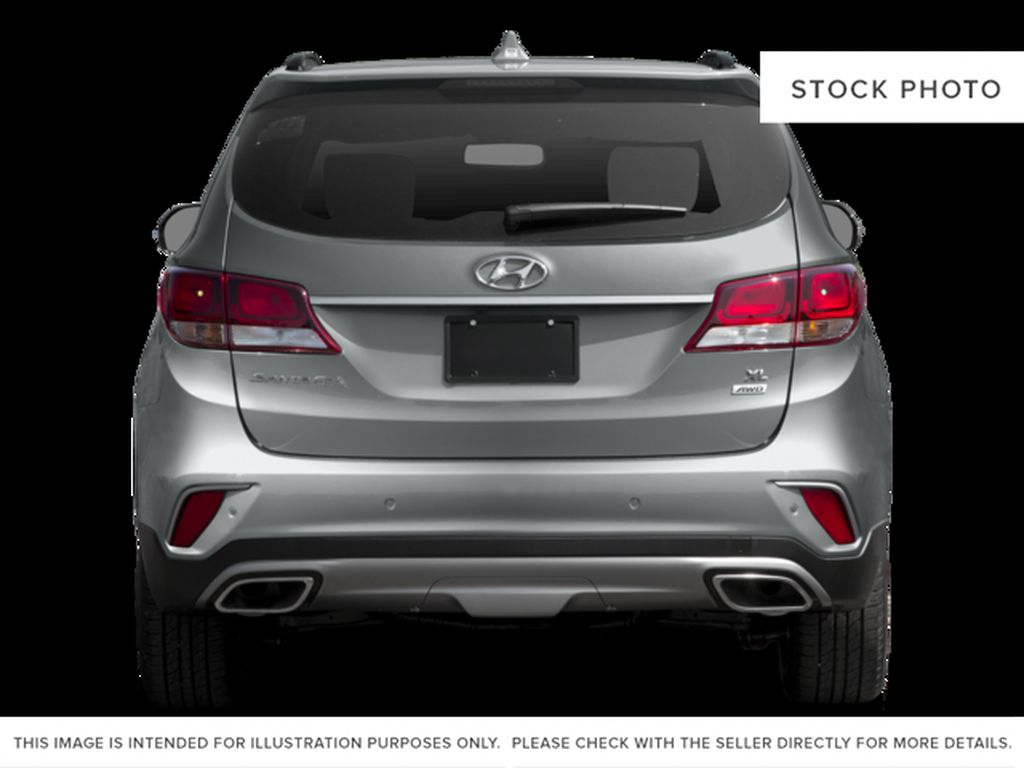 White[Monaco White] 2017 Hyundai Santa Fe XL Rear of Vehicle Photo in Kelowna BC