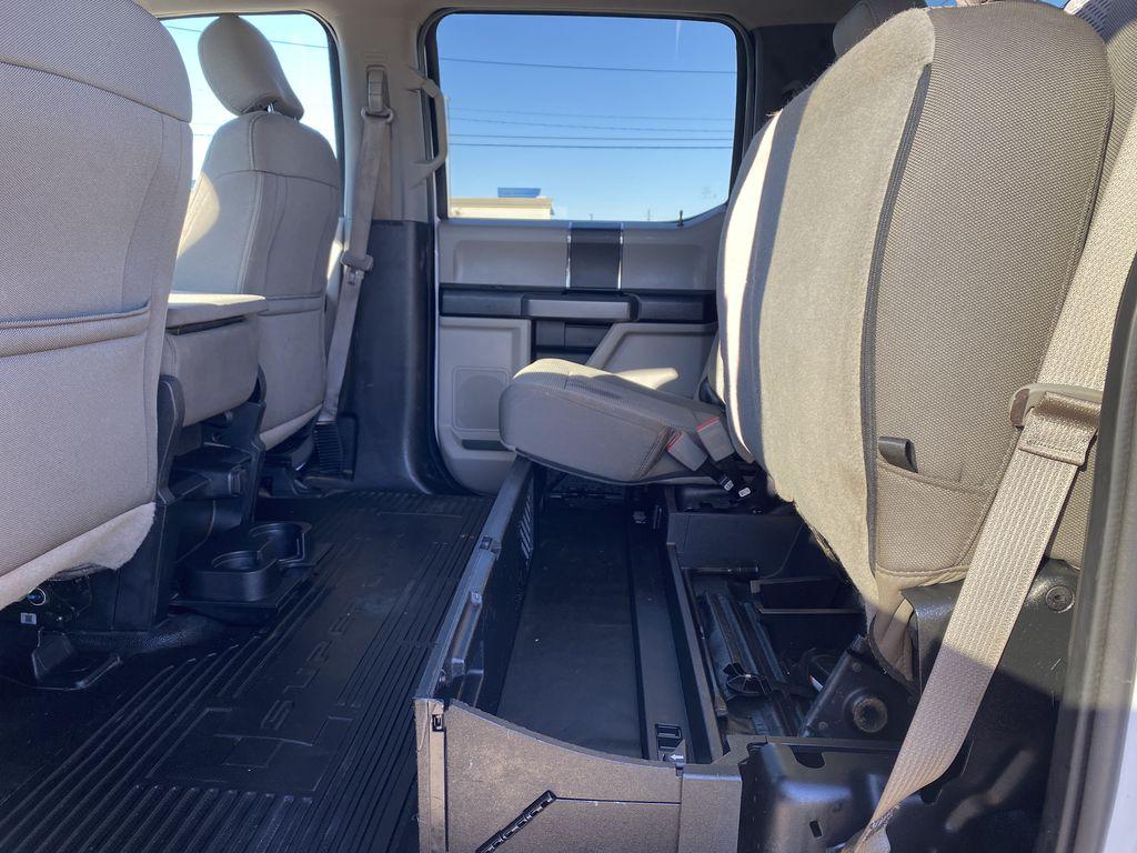 White[Oxford White] 2019 Ford Super Duty F-250 SRW Rear Seat: Cargo/Storage Photo in Edmonton AB