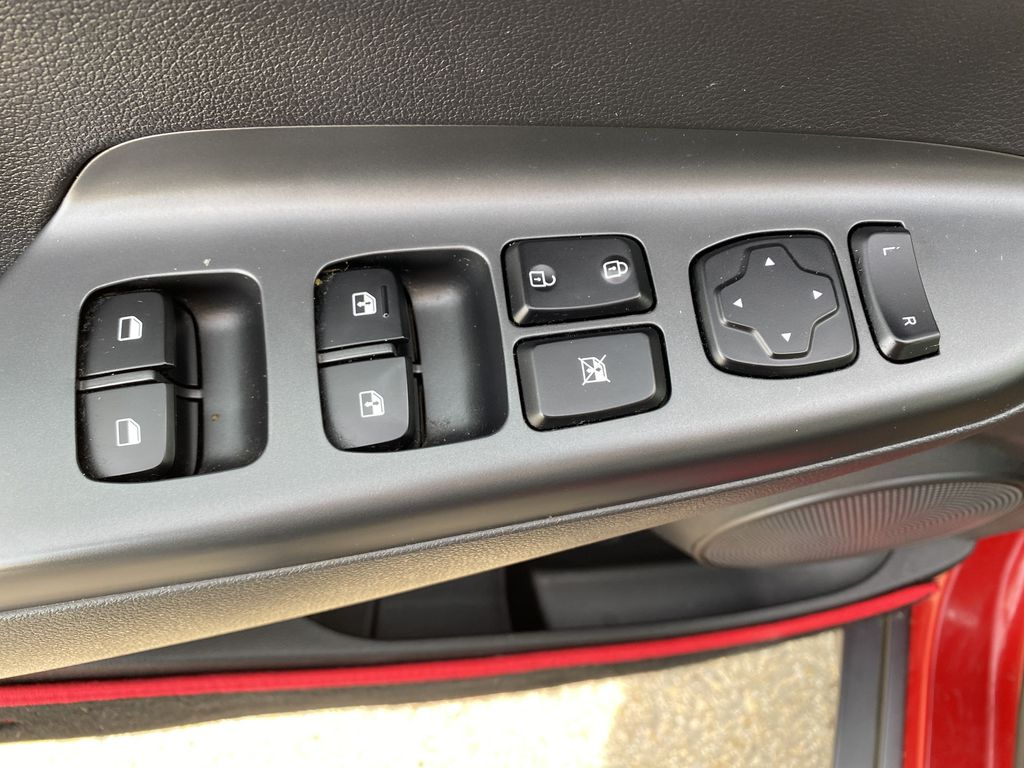 Red[Pulse Red w/Black Roof] 2018 Hyundai Kona  Driver's Side Door Controls Photo in Edmonton AB