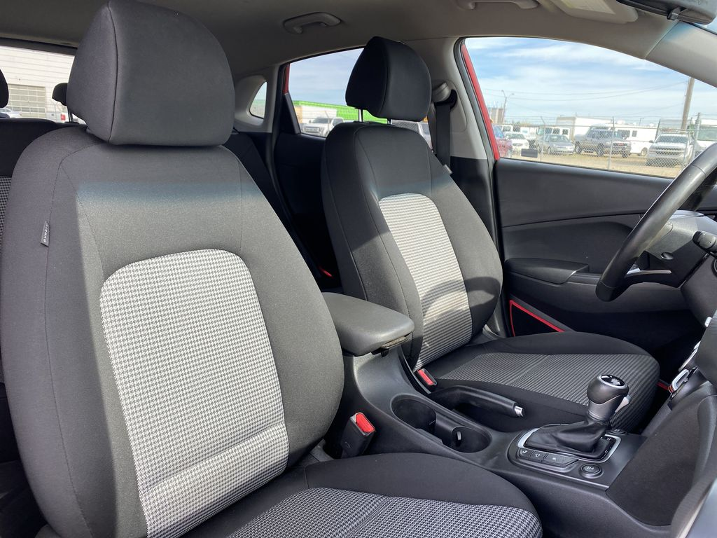 Red[Pulse Red w/Black Roof] 2018 Hyundai Kona Right Side Front Seat  Photo in Edmonton AB