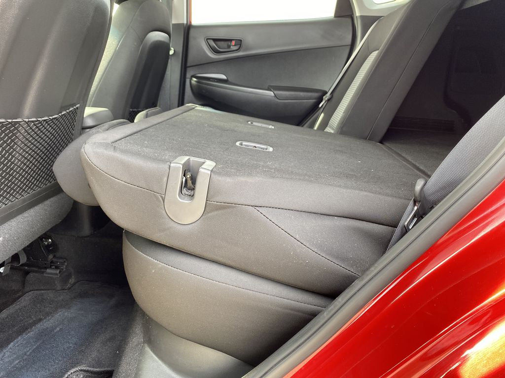 Red[Pulse Red w/Black Roof] 2018 Hyundai Kona Rear Seat: Cargo/Storage Photo in Edmonton AB