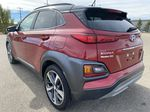 Red[Pulse Red w/Black Roof] 2018 Hyundai Kona Left Rear Corner Photo in Edmonton AB