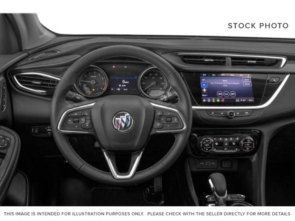 White[Summit White] 2022 Buick Encore GX Steering Wheel and Dash Photo in Lethbridge AB