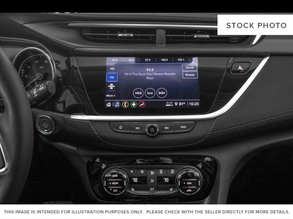 White[Summit White] 2022 Buick Encore GX Radio Controls Closeup Photo in Lethbridge AB