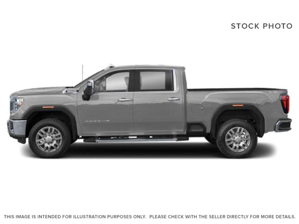 Silver[Quicksilver Metallic] 2021 GMC Sierra 3500HD Left Side Photo in Fort Macleod AB