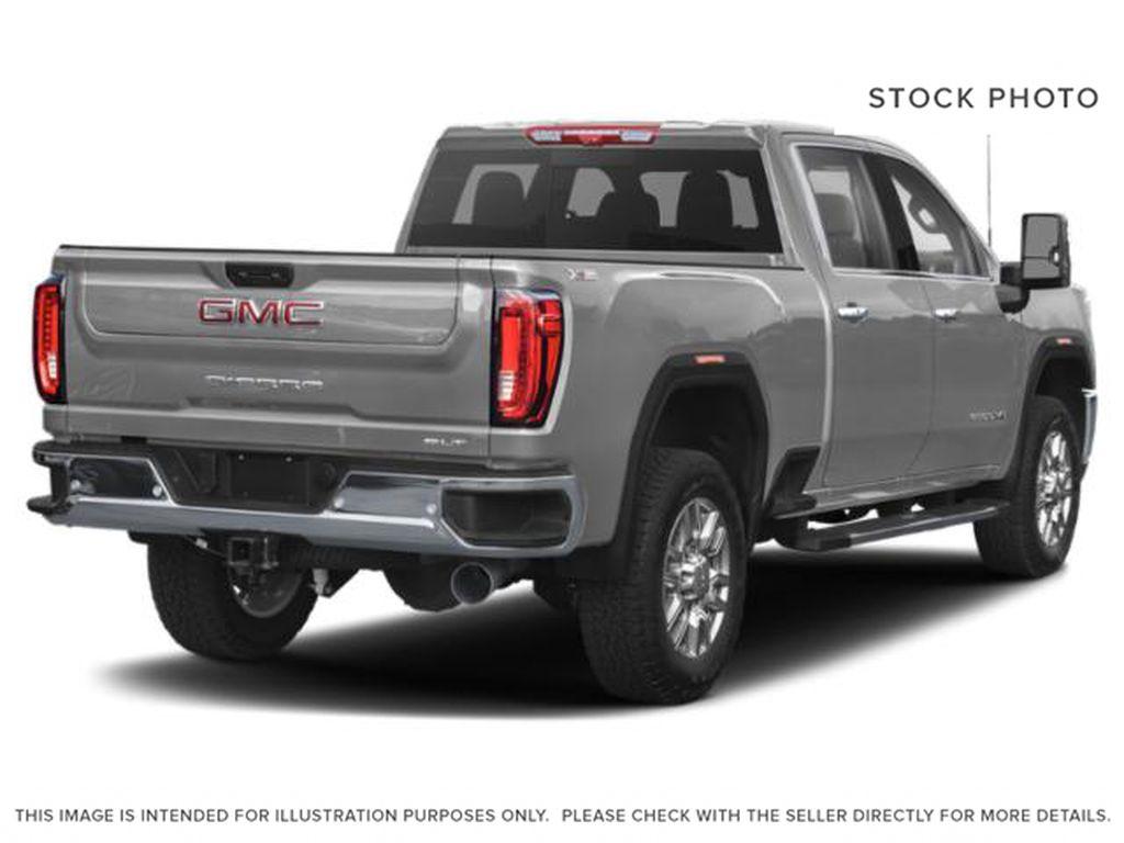 Silver[Quicksilver Metallic] 2021 GMC Sierra 3500HD Right Rear Corner Photo in Fort Macleod AB
