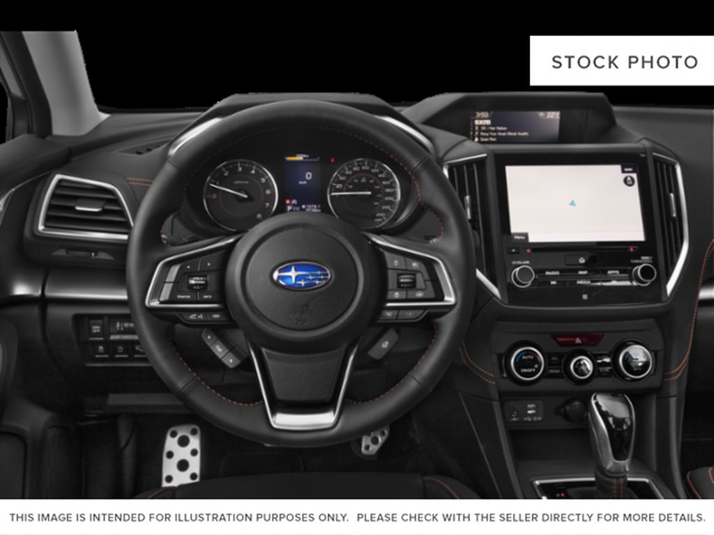 Blue[Dark Blue Pearl] 2021 Subaru Crosstrek Steering Wheel and Dash Photo in Lethbridge AB