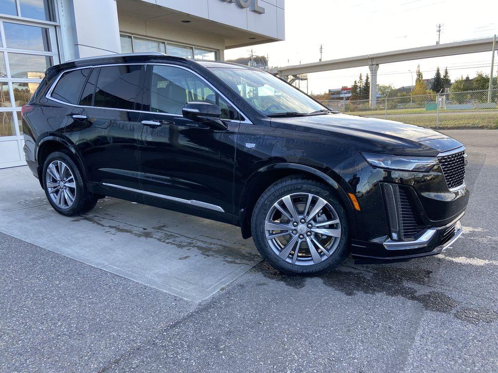 Black[Manhattan Noir Metallic] 2020 Cadillac XT6 Premium Luxury Right Front Interior Door Panel Photo in Calgary AB