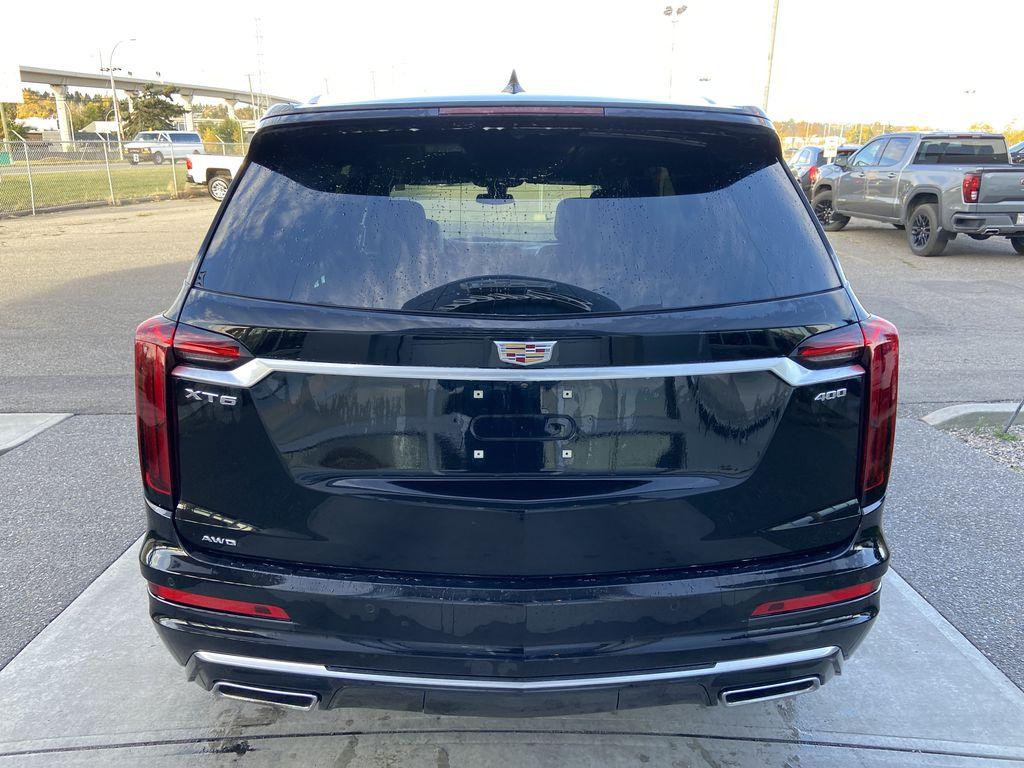 Black[Manhattan Noir Metallic] 2020 Cadillac XT6 Premium Luxury Rear of Vehicle Photo in Calgary AB
