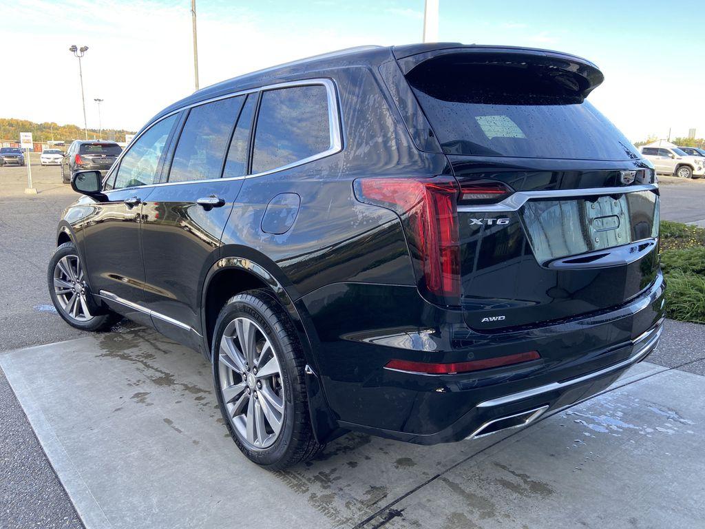 Black[Manhattan Noir Metallic] 2020 Cadillac XT6 Premium Luxury Left Rear Corner Photo in Calgary AB