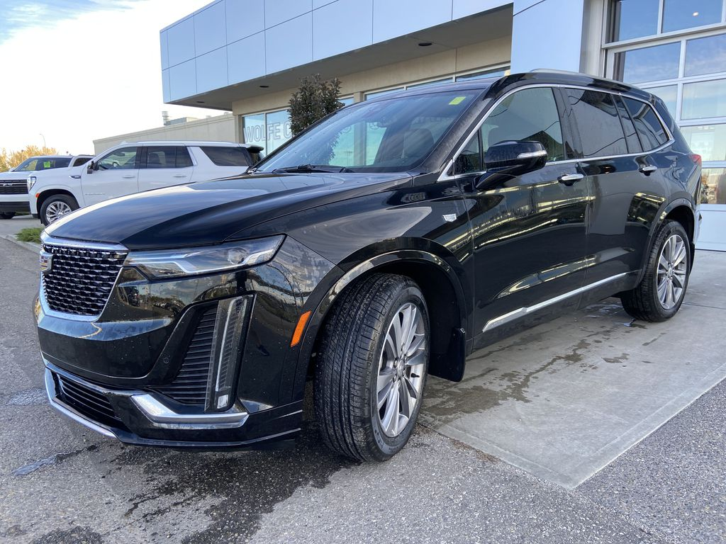 Black[Manhattan Noir Metallic] 2020 Cadillac XT6 Premium Luxury Left Front Head Light / Bumper and Grill in Calgary AB