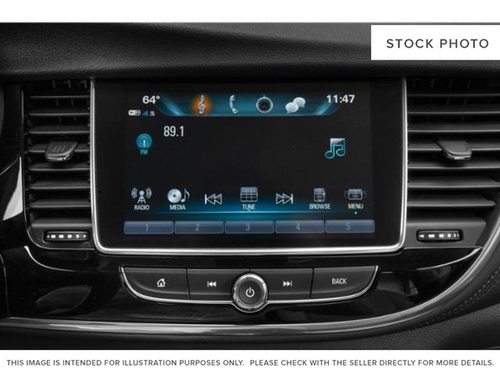 White[Summit White] 2022 Buick Encore Radio Controls Closeup Photo in Lethbridge AB