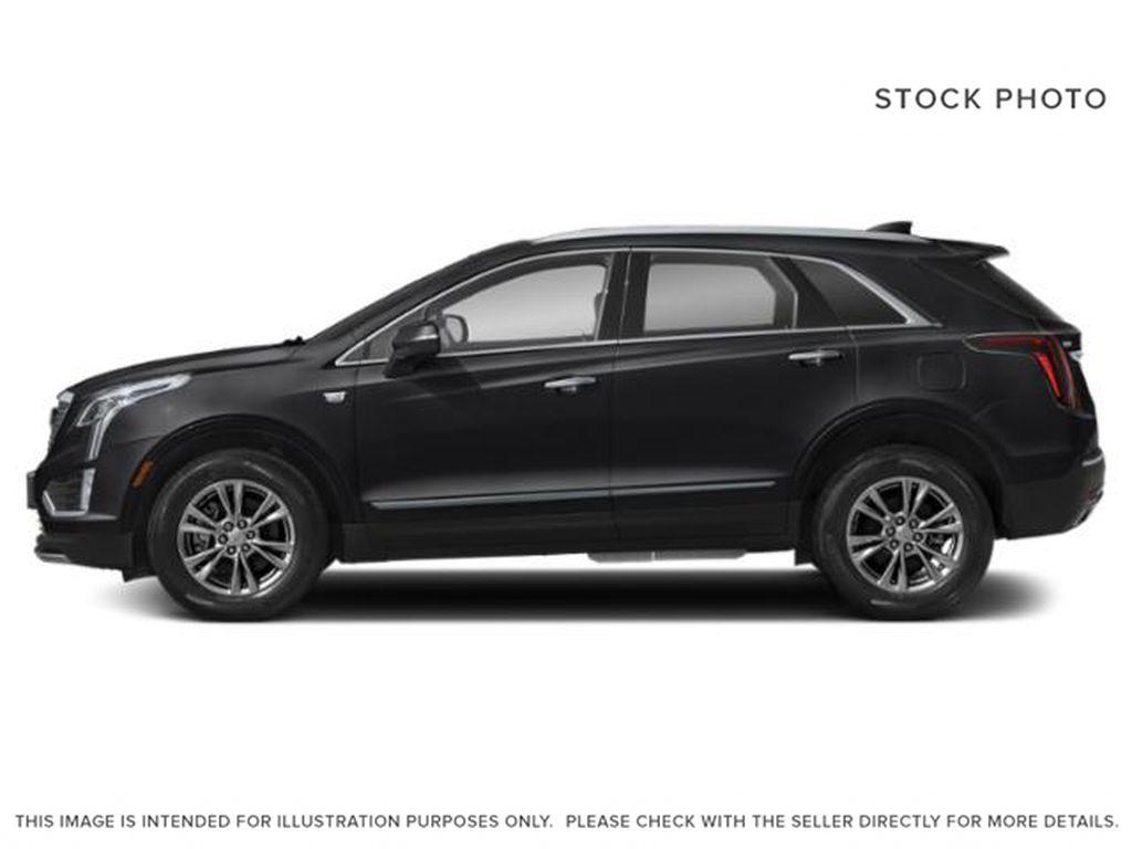 Black[Stellar Black Metallic] 2022 Cadillac XT5 Premium Luxury Left Side Photo in Calgary AB